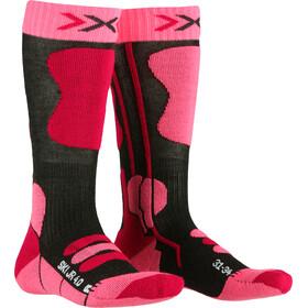 X-Socks Ski 4.0 Sukat Lapset, anthracite melange/fluo pink